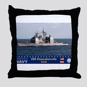 USS Chancellorsville CG-62 Throw Pillow